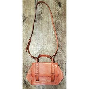 Frye Reed Mini Flap Satchel Crossbody Bag Brown